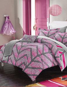 Chic Home Design Fuchsia Amaretto Chevron Reversible Comforter Sets