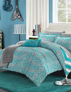 Chic Home Design Aqua Amaretto Chevron Reversible Comforter Sets