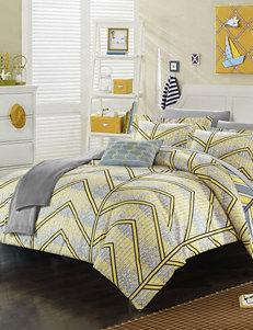 Chic Home Design Yellow Amaretto Chevron Reversible Comforter Set