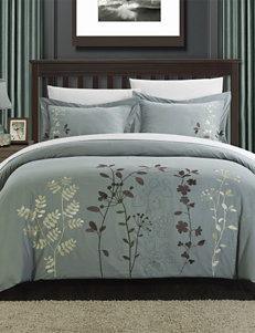 Chic Home Design 7-pc.  Kaylana Floral Collection Green Duvet Set