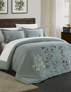 Chic Home Design 3-pc. Kaylana Floral Collection Green Duvet Set