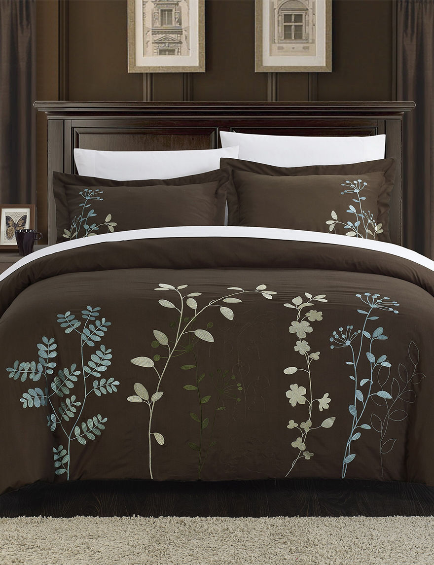 Chic Home Design Brown Duvets & Duvet Sets