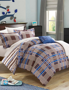 Cambridge Stripe & Classic Plaid Reversible Comforter Collection