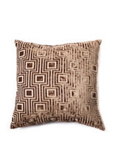 Home Fashions International 22 Inch Fidelity Cubes Sage Pillow