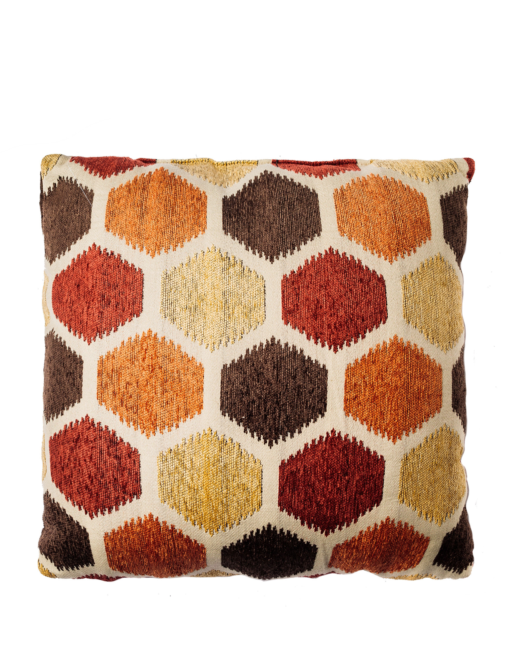 Home Fashions International Burnt Red/ Tan Decorative Pillows