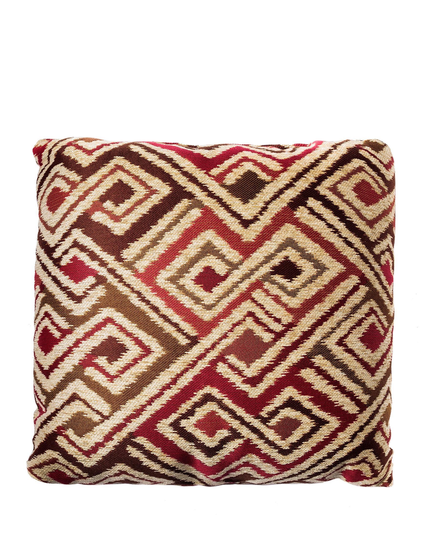 Home Fashions International Burnt Red/ Tan Decorative Pillows