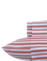 Nautica Coleridge Red Stripe Sheet Set