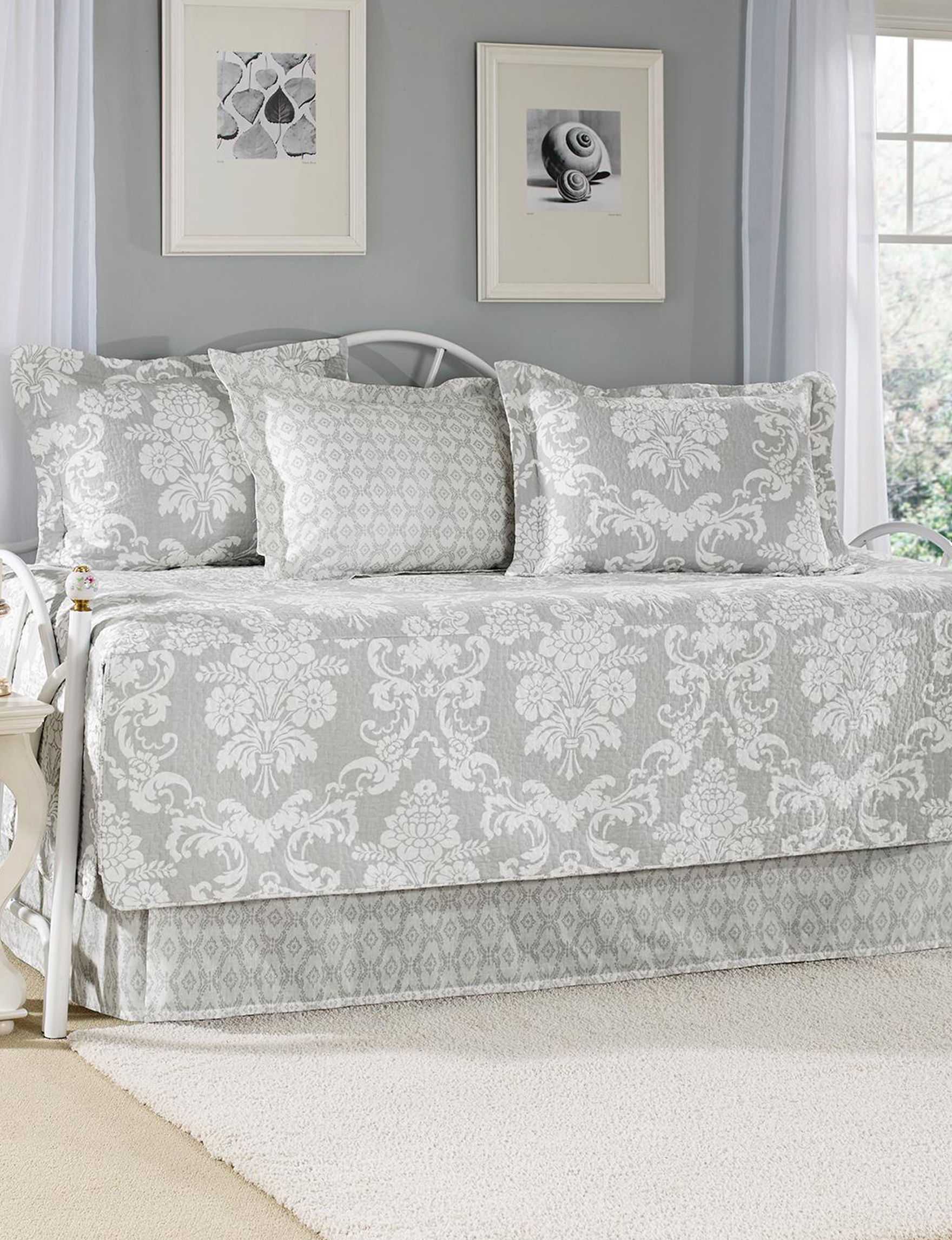Laura Ashley Gray Quilts & Quilt Sets