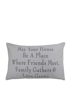 Vintage House Family Gathers Decorative Pillow