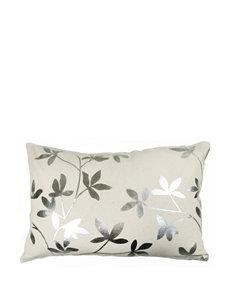 Vintage House Foil Leaves Linen Decorative Pillow