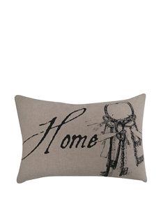 Vintage House Home Key Linen Decorative Pillow