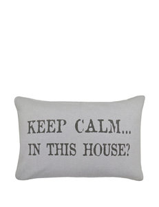 Vintage House In This House Decorative Pillow
