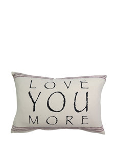 Vintage House Love You More Decorative Pillow
