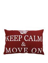 Vintage House Move On Cinnabar Decorative Pillow