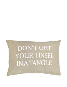 Vintage House Tinsel Silver Decorative Pillow