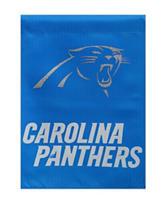 Carolina Panthers 2-Sided Glitter Embellished Flag