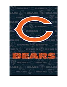 Chicago Bears 2-Sided Glitter Embellished Flag