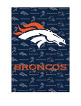 Denver Broncos 2-Sided Glitter Embellished Flag