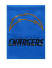 San Diego Chargers 2-Sided Glitter Embellished Flag