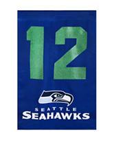 Seattle Seahawks Spirit of 12 Two-Sided Glitter Embellished Flag