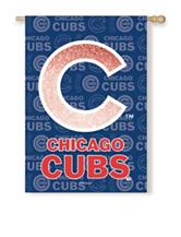 Chicago Cubs 2-Sided Glitter Embellished Flag