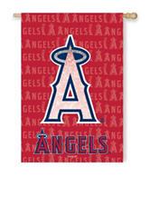Los Angeles Angels 2-Sided Glitter Embellished Flag