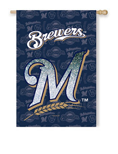 Milwaukee Brewers 2-Sided Glitter Embellished Flag