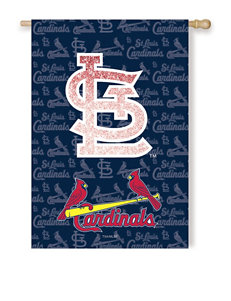 St. Louis Cardinals 2-Sided Glitter Embellished Flag