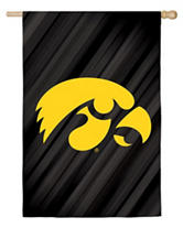 Evergreen University of Iowa Double Sided Suede Flag