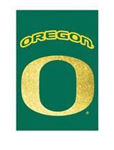 Evergreen University of Oregon Double Sided Glitter Flag