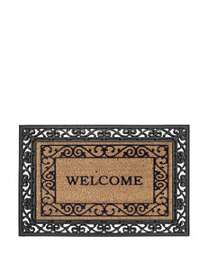 Evergreen Black Outdoor Rugs & Doormats Outdoor Decor