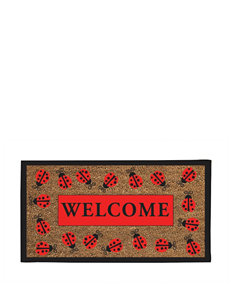 Evergreen Ladybug Welcome Coir Mat