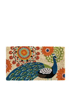 Evergreen Proud Peacocks Coir Mat