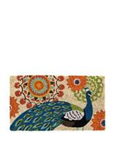Evergreen Proud Peacocks Coir Mat