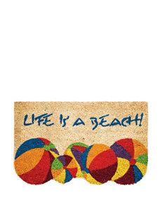 Evergreen Life Is A Beach Coir Mat