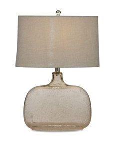 Bassett Mirror Co. Clear Seeded Glass Table Lamps Lighting & Lamps