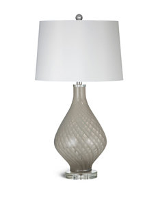 Bassett Mirror Co. Beige and Clear Glass Table Lamps Lighting & Lamps