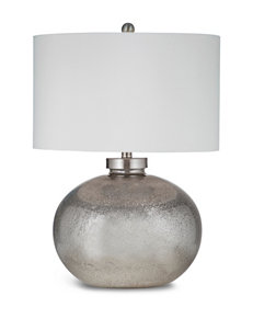 Bassett Mirror Co. Silver Leaf/Black Table Lamps Lighting & Lamps