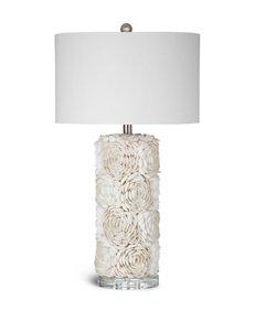 Bassett Mirror Co. Cream Table Lamps Lighting & Lamps