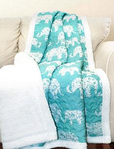 Lush Decor Aqua Blankets & Throws