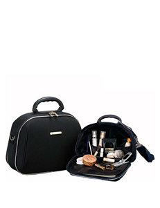 Rockland 2-pc. Solid Color Cosmetic Bag Set