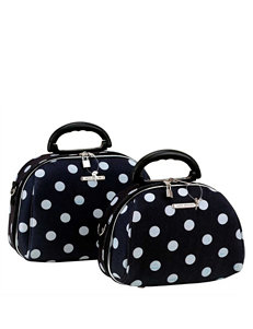Rockland 2-pc. Dot Print Cosmetic Bag Set