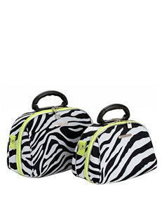 Rockland Black Zebra Travel Totes