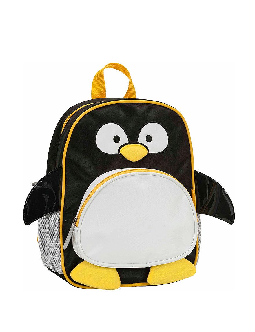 Rockland Black / White Bookbags & Backpacks