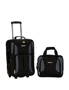 Rockland 2-pc. Solid Color Suitcase & Tote Set
