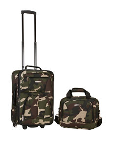 Rockland 2-pc. Camo Print Suitcase & Tote Set