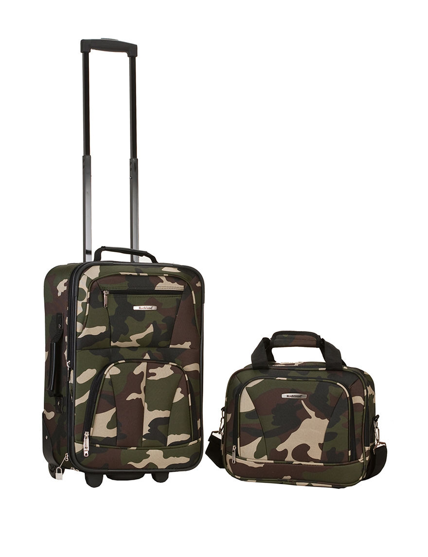 Rockland Green Camo Luggage Sets