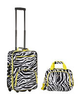 Rockland 2-pc. Zebra Print Suitcase & Tote Set