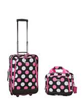 Rockland 2-pc. Multicolor Dot Print Suitcase & Tote Set