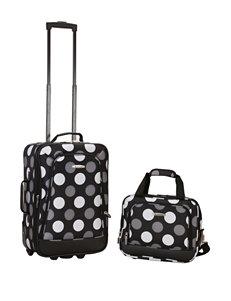 Rockland Black / White Luggage Sets